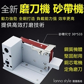 台灣現貨 電動砂帶機小型砂帶機迷妳電動砂帶機DIY拋光機打磨機 開刃機 台式打磨