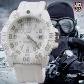 【萬年鐘錶】LUMINOX 雷明時 海豹部隊指標系列經典腕錶 白色 43mm LM-A3057.WO