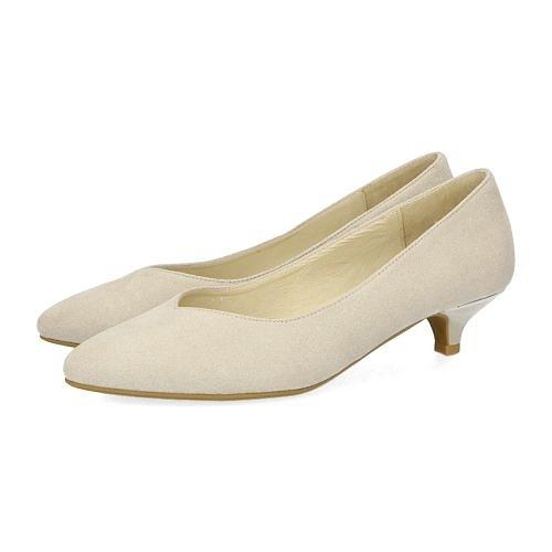 【ORiental TRaffic】百搭V口尖楦中跟鞋-簡約灰