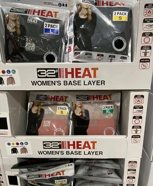 [限時限量促銷] C1132529 32 DEGREES WOMENS 女長袖熱能保暖衣兩入組 亞洲尺寸:S-XL (2PK)