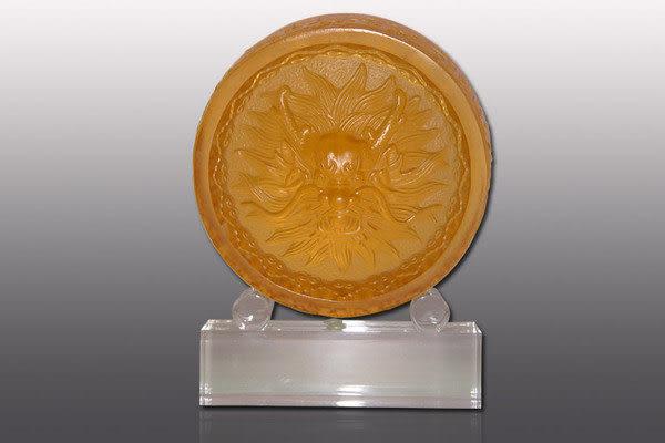 鹿港窯~居家開運水晶琉璃【中龍頭 】文鎮 獎牌 擺飾 ◆附精美包裝◆免運費送到家