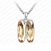 925純銀項鍊 水晶墜飾-獨特造型生日情人節禮物女飾品4色73aj26【巴黎精品】
