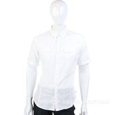 KENZO 雙口袋休閒短袖襯衫(白色) 0810368-20