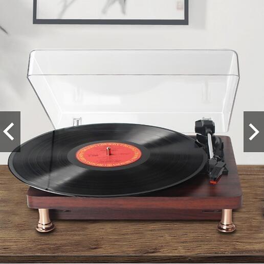 【現貨快速出貨】 留聲機 仿古便攜復古客廳歐式家用LP黑膠唱片機 老式電唱機 YJTigo