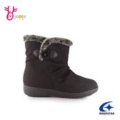 Moonstar月星日本防水靴 雪靴 成人女款 低調優雅時尚發熱機能短靴 I9603#咖啡◆OSOME奧森鞋業