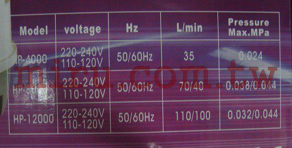 【西高地水族坊】ATMAN亞特曼 打氣幫浦,鼓風機 HP-12000