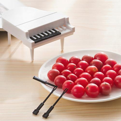 創意可愛鋼琴點心水果叉 9支裝 沙拉叉 蛋糕叉