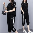 套裝兩件式中大尺碼XL-5XL運動服寬松...