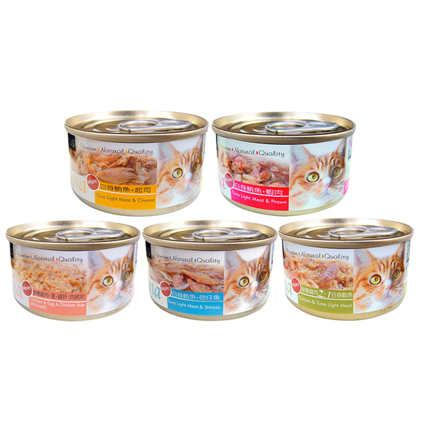 寵物家族-[24入/箱] 聖萊西Seeds Tuna愛貓天然食70g 五種口味