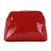 YSL 聖羅蘭~奢華紅漆皮手拿包
