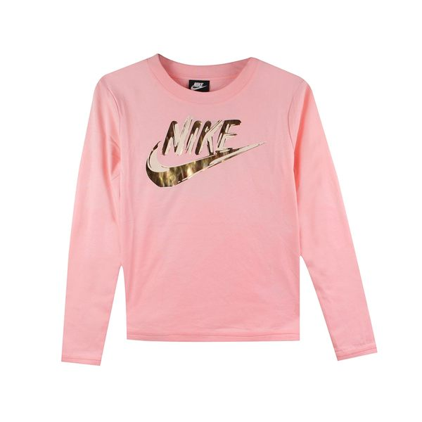 NIKE 女 AS W NSW TOP LS METALLIC GX  圓領T(長)- 939349646