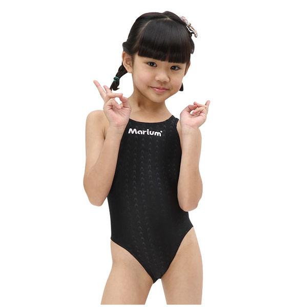 ≡MARIUM≡ 小女競賽型泳裝─黑 MAR-8002WJ