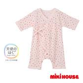 MIKI HOUSE BABY 日本製彩色星星新生兒紗布衣(粉紅)