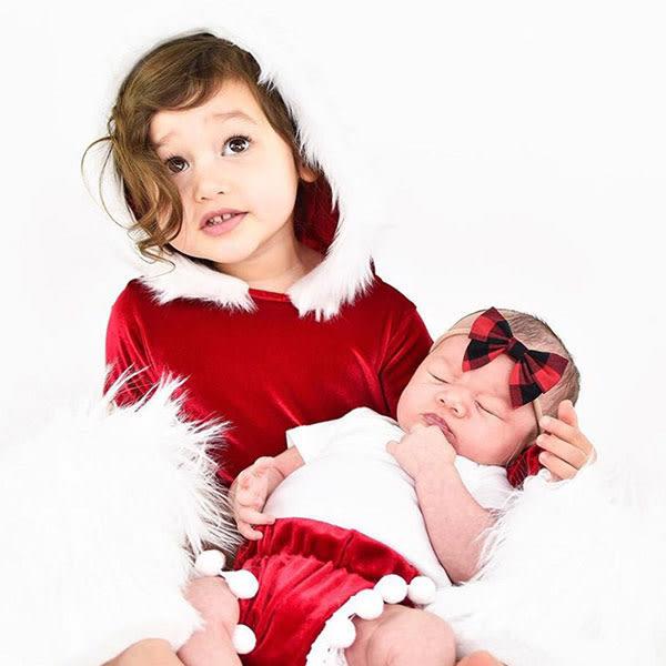 ins 大紅 毛毛 連帽 金絲絨 長袖 包屁衣 連身衣 天鵝絨 絨布 洋裝 上衣 聖誕節 新年 跨年 表演服裝