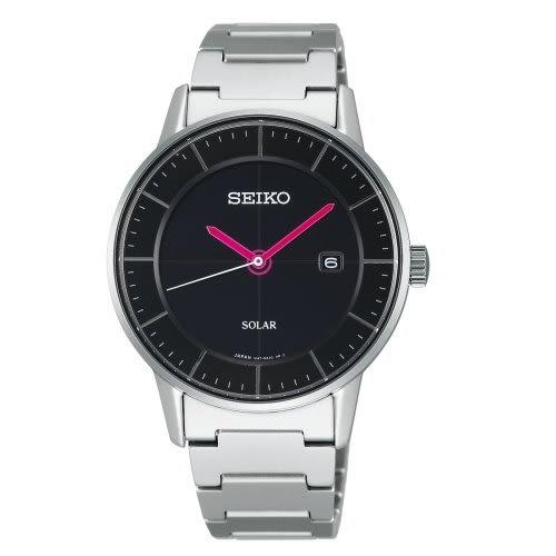 *最殺折扣*SEIKO 日系極簡美學太陽能時尚腕錶/V147-0AK0D