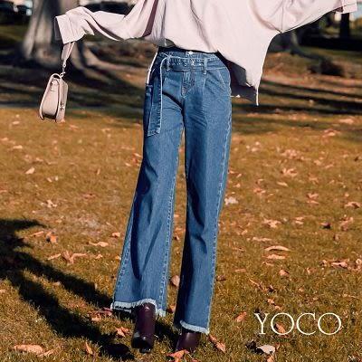 東京著衣【YOCO】安琪聯名長腿效果牛仔單寧寬褲-S.M.L(172536)