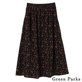 「Hot item」復古滿版碎花長裙 - Green Parks