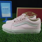 【iSport愛運動】Vans 皮革 休閒鞋 全新正品182010534 女 淺粉紅