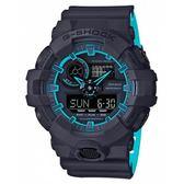 CASIO G-SHOCK 夏日螢光街頭潮流腕錶-黑X藍 GA-700SE-1A2
