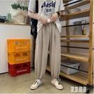 中大尺碼束腳褲 男生韓版潮流束腳褲寬鬆潮牌抽繩運動休閒褲DF104【極致男人】