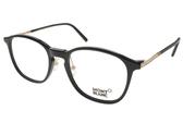 MONT BLANC 光學眼鏡 MB574D 001 (黑-金) 簡約基本款 #金橘眼鏡