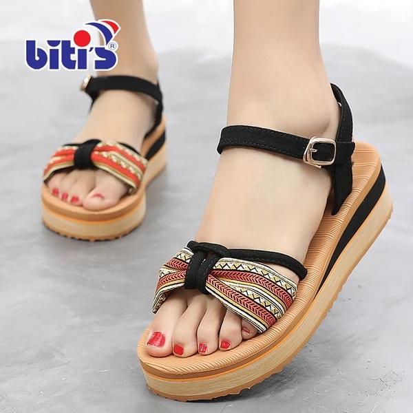 越南平仙涼鞋女新款夏季百搭仙女風松糕女鞋子厚底舒適沙灘鞋