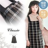 大童-毛料格紋吊帶裙-限量特賣(260694)★水娃娃時尚童裝★