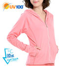 UV100 防曬 抗UV-涼感口罩連帽休...