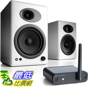 [9美國直購] 音箱 Audioengine A5+ Limited Edition Premium Desktop Speaker (White) B1 Bluetooth Music Receiver