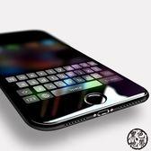 手機殼 閃魔 蘋果7plus鋼化膜iphone7全屏覆蓋玻璃3D曲面七全包手機貼膜 ~黑色地帶