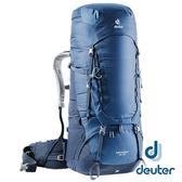 【德國 deuter】AIRCONTACT輕量拔熱式透氣背包 65+10L『藍』3320519 大背包 背包客 渡假打工