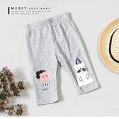 純棉 可愛領結貓咪雲朵雨滴內搭褲 短褲 麻花 春夏 女童 【哎北比童裝】