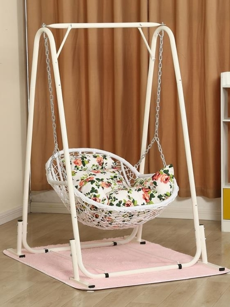 吊籃藤椅單人兒童秋千室內外家用搖椅陽臺吊蘭鳥巢搖籃椅千秋吊椅