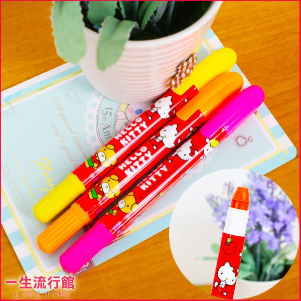 (3入) Hello Kitty 凱蒂貓 正版 果凍螢光筆 重點筆 造型顏色筆 C09082