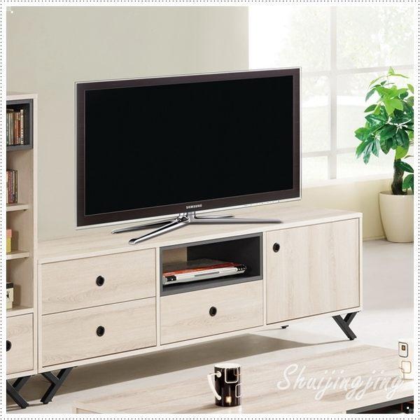 【水晶晶家具/傢俱首選】優娜6尺白橡木電視櫃 JM8329-2
