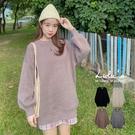 LULUS【A01200878】大姊姊Y自訂款羅紋縮口長版針織上衣4色