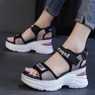 2021新款夏季網紅涼鞋女超火厚底潮鞋百搭松糕鞋增高時《朵拉朵》