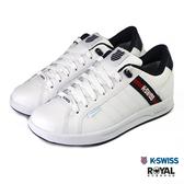 K-swiss Lundahl 白色 皮質 防水 運動休閒鞋 男女款 NO.B1169-J0253【新竹皇家 06780-113 96780-113】