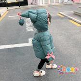 女寶寶冬裝刷毛棉襖1兒童2嬰兒3歲小童4女童羽絨棉服加厚棉衣外套