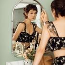 韓版女小胸分體裙式黑色粉色比基尼網紅泳裝溫泉季新款
