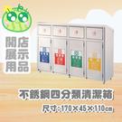 不銹鋼四分類清潔箱/G310