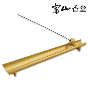 【富山香堂】吉祥風華銅臥香座-金色(臥線香適用,適合富山205mm產品)