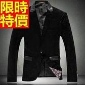 韓版 西裝外套 男西服 合身剪裁非凡-灑脫金絲絨個性優雅65b43[巴黎精品]