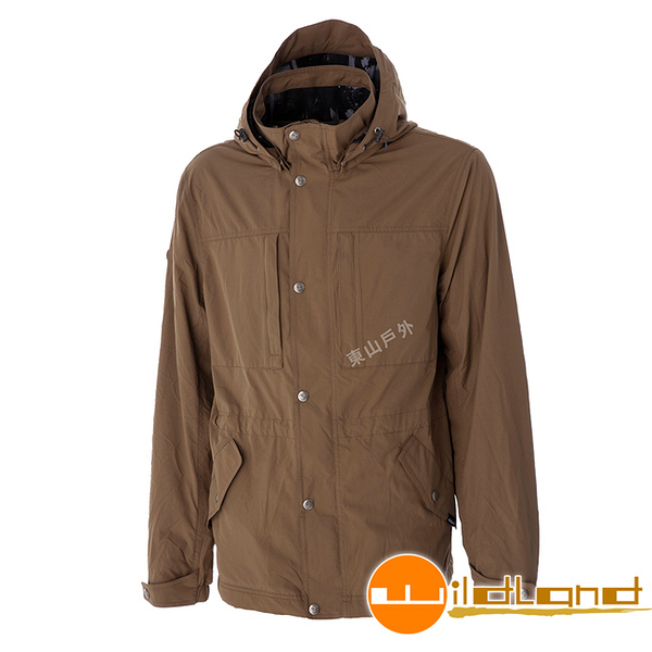 Wildland 荒野 0A52906-82卡其 男Pile防風保暖外套 防風外套/多口袋外套/保暖柔軟舒適