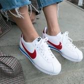 【折後$2580再送贈品】NIKE CLASSIC CORTEZ LEATHER 女鞋 休閒 阿甘 皮革 經典 白紅藍 807471-103