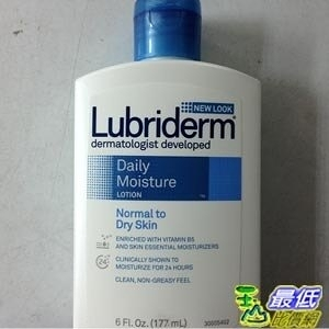 [美國直購] Lubriderm 隨身瓶 身體滋潤保濕乳液 6 fl oz (177ml) Daily Moisture Lotion for Normal to Dry Skin_TB4