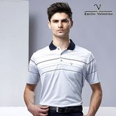 Emilio Valentino 都會休閒涼感POLO衫 - 黑灰紅