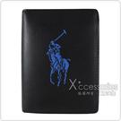 POLO Ralph Lauren 藍色小馬6卡直立式短夾(黑)
