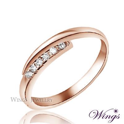 Wings 星盼 纖細美麗的優雅 精鍍玫瑰金戒指  尾戒