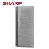 [SHARP 夏普]583公升 鏡面玻璃 變頻雙門電冰箱 SJ-GD58V-SL【加贈 奇美14吋DC立扇 DF-14G0ST】